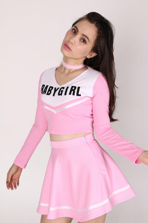 Image of Team Babygirl In Pink with V neck