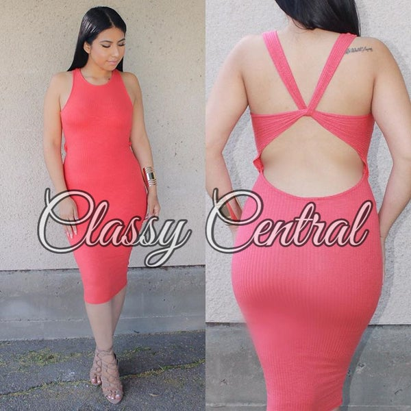 Image of Coral Crush Bodycon