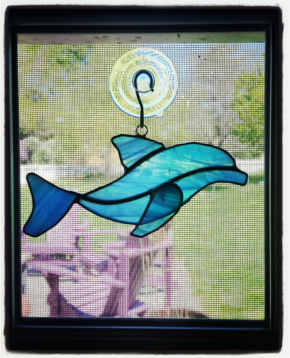 Image of Dolphin stained glass