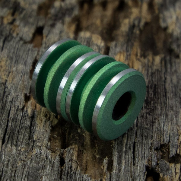 Image of Lime Green with a blasted finish Double Bead Set #4