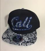 Image of BLUE CALI SNAP BACK HAT