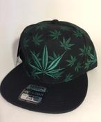 Image of GREEN KUSH SNAP BACK HAT