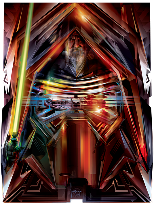Image of STAR WARS - THE FORCE AWAKENS- 18x24 edtn50 2016