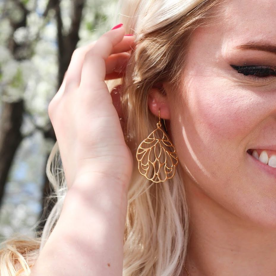 Image of Gold Dangle Earrings