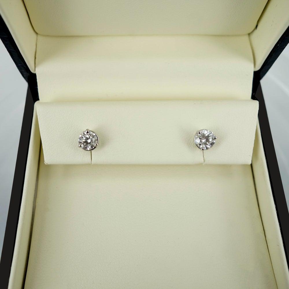 Image of 18ct White Gold Diamond Studs