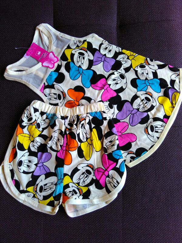 Image of Colorful Minnie Shorts Set