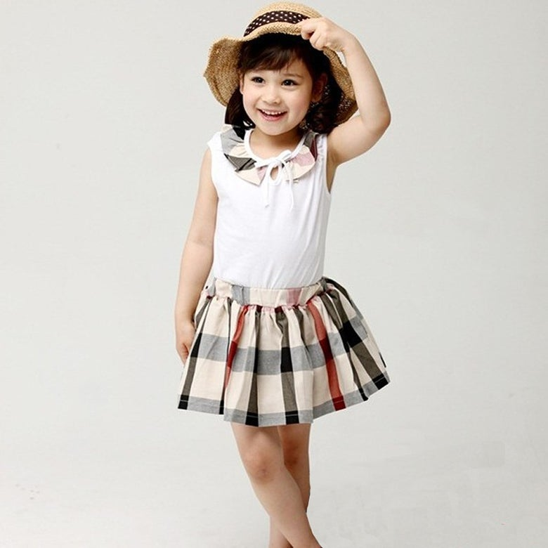 Image of Plaid Flare Skirt Set