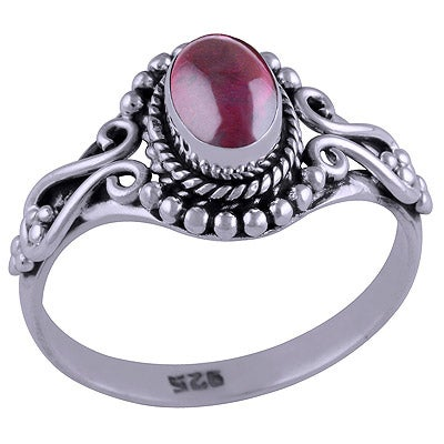 Image of Sterling Silver & Garnet Lola Ring