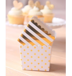 Image of {White & Gold} Scallop Favour Box