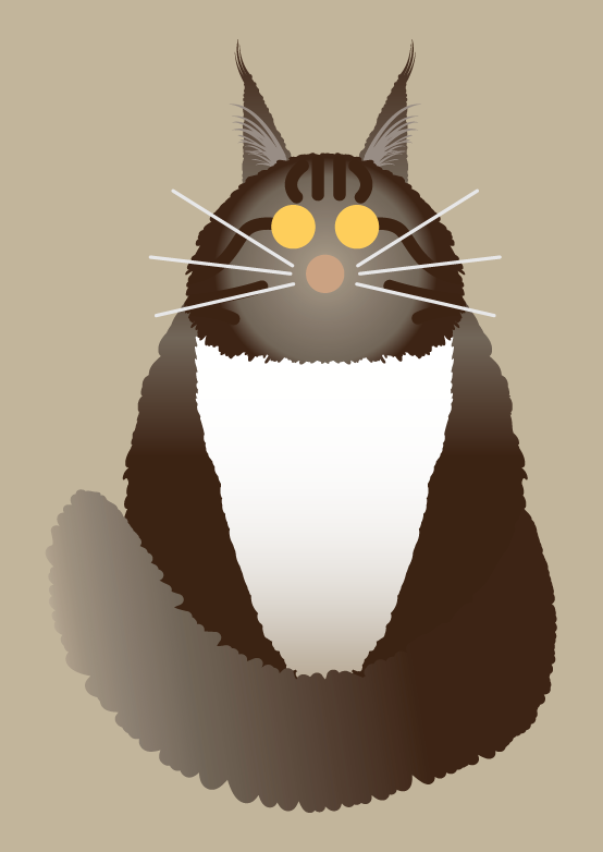 Image of Maine Coon Cat, Torty, Pink Cat and Tux Collection