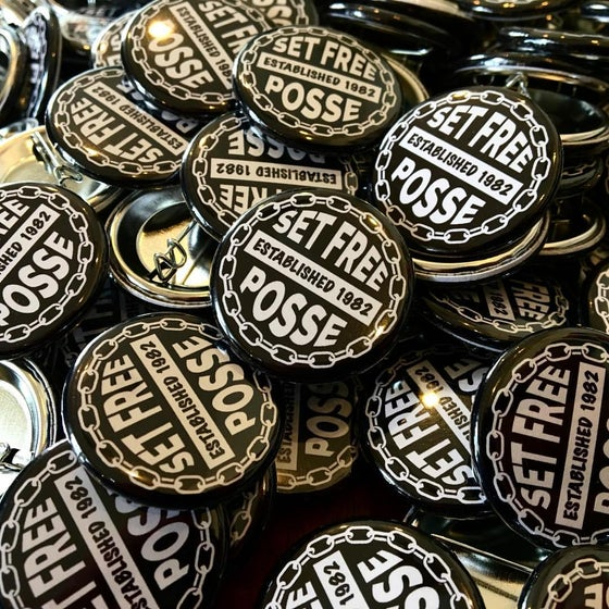 """Image of Set of 3 """"Set Free Posse"""" Pin Buttons"""