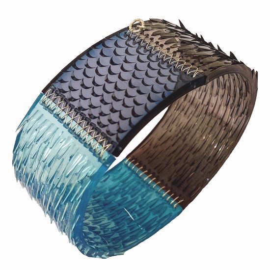 Image of skin deep bangle - turquoise, graphite + denim