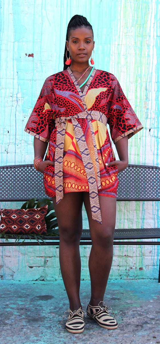 Image of •Laaba• Kimono: strawberry african violet