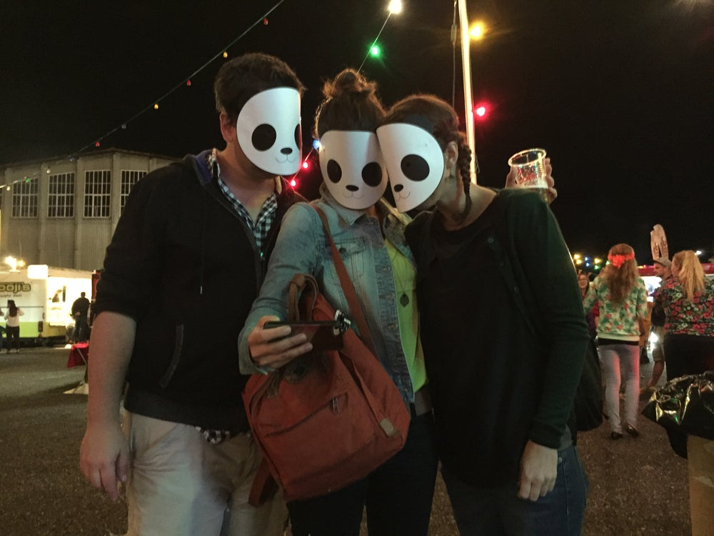 Image of Panda Buns Mask