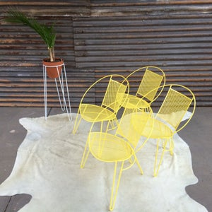 Image of Vintage outdoor chair Yellow