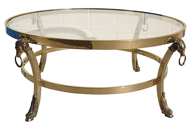 Image of Brass Ram's Head Coffee Table