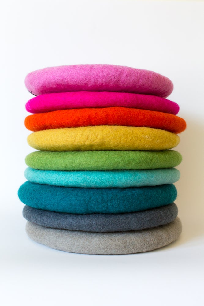 Image of Tush Cush - Felted NZ wool cushions (Now avail in 10 colours)