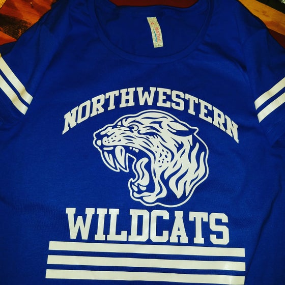 Image of Northwestern Wildcats school spirit ladies tee