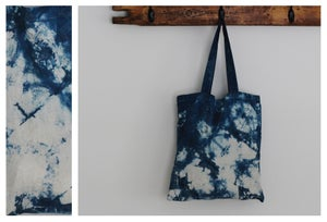 Image of Indigo Shibori Small Tote