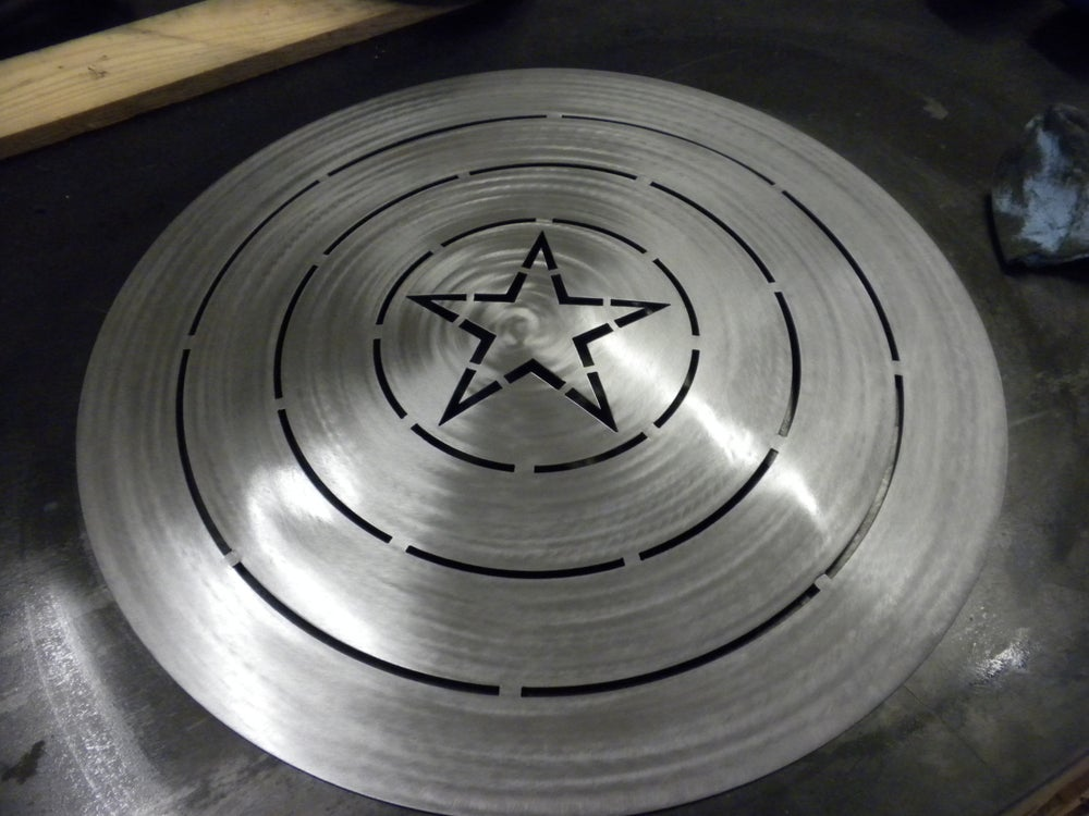 Image of Metal Formed Captain America Style Shield