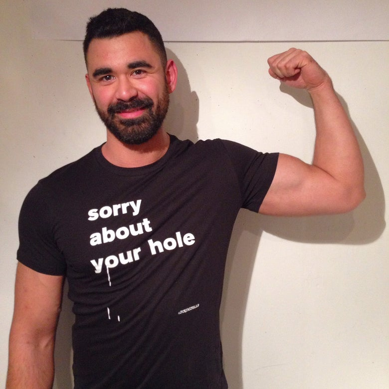 Image of Black Sorry About Your Hole T