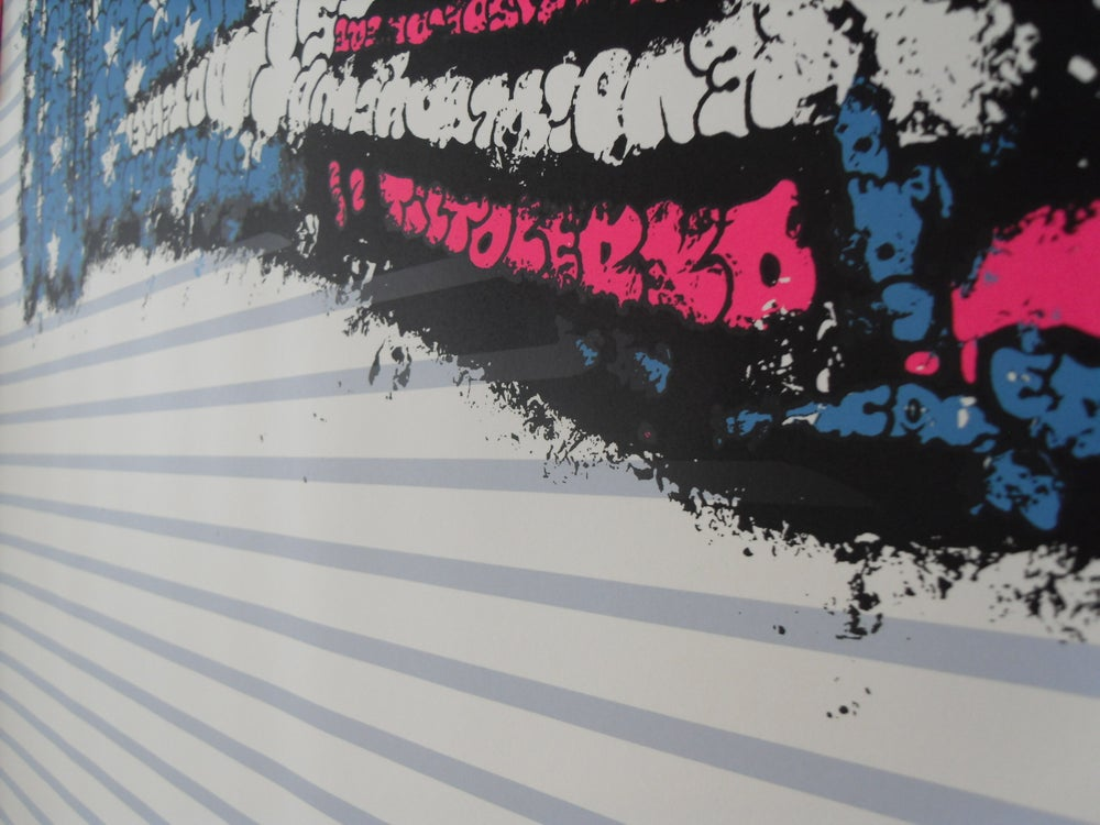 "Image of TILT - ""COKE"" BLUE - LIMITED EDITION SCREEN PRINT OF 22 - 60CM X 80CM"