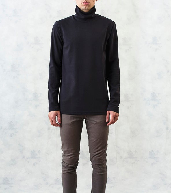 Image of Long-Sleeved Turtleneck T-Shirt