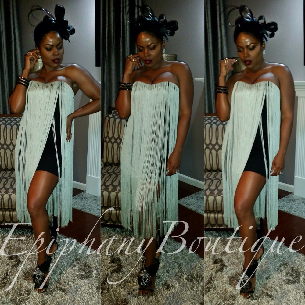 Image of The Blaque' Fringe Dress-**ON SALE**