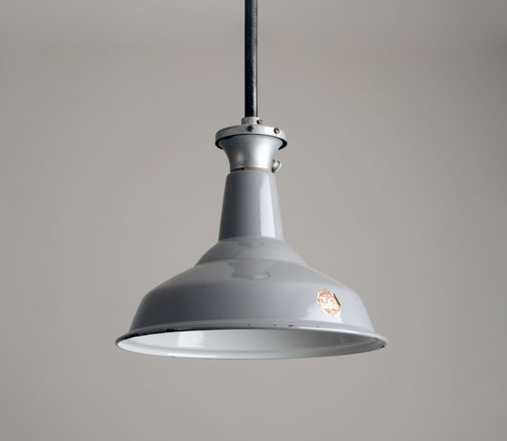 Image of Small Grey Benjamin Factory light