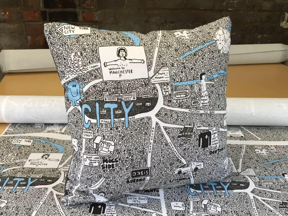 Image of City Doodle Cushion