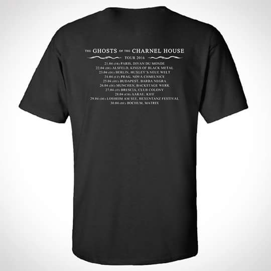 "Image of Shirt ""Ghosts Of The Charnel House Tour 2016"" Black"