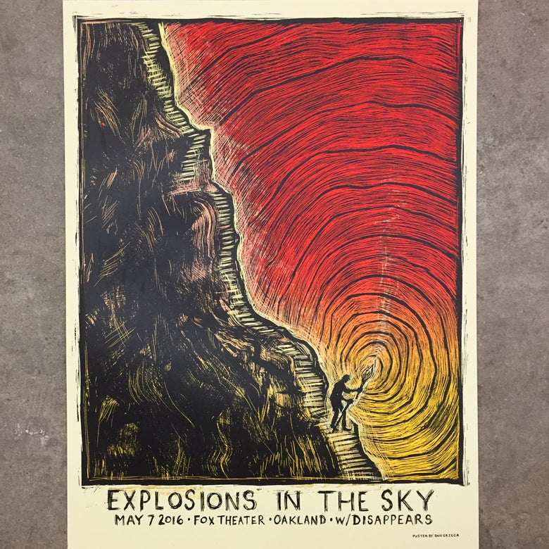 Image of Explosions In The Sky Oakland Poster