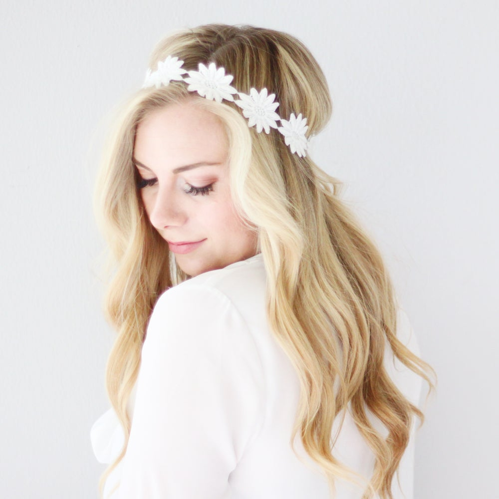 Image of Dahlia Adult Lace Headband