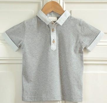 """Image of SS16 <> Tshirt polo bébé garçon """"JO"""" ivoire"""