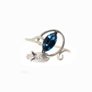 Image of {NEW} Blue Topaz Mouse Ring