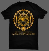 Image of The United Federation of Godz and Pharaohs T-Shirt - Black Tee