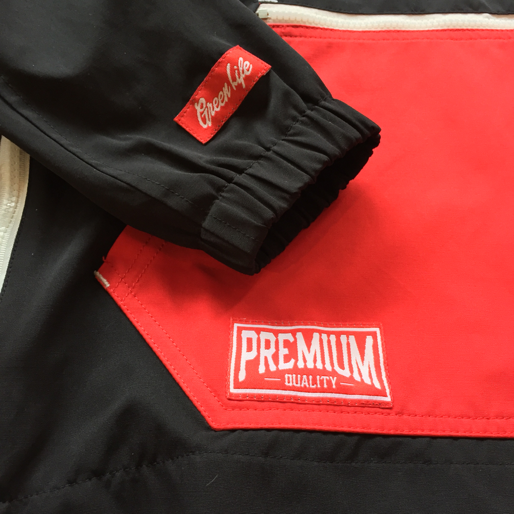 Image of The Higher Class Windbreaker in Red/Black