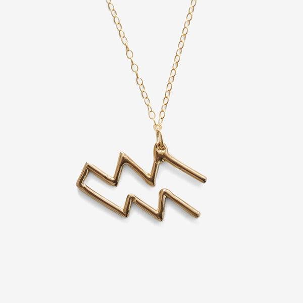Image of Aquarius Zodiac Necklace