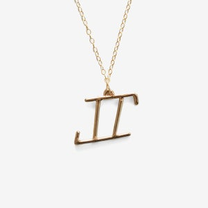 Image of Gemini Zodiac Necklace