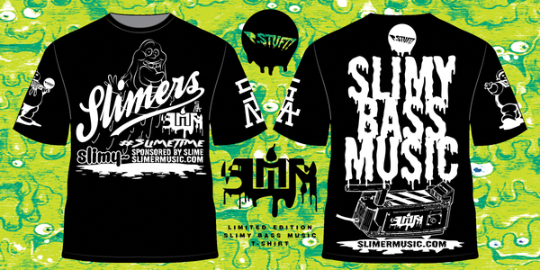 """Image of """"LIMITED EDITION"""" SLIMERS Slimy Bass Music T-Shirt"""