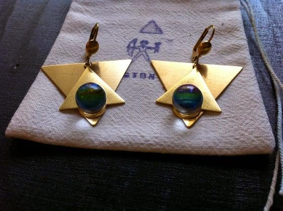Image of Crystal Ball star earrings