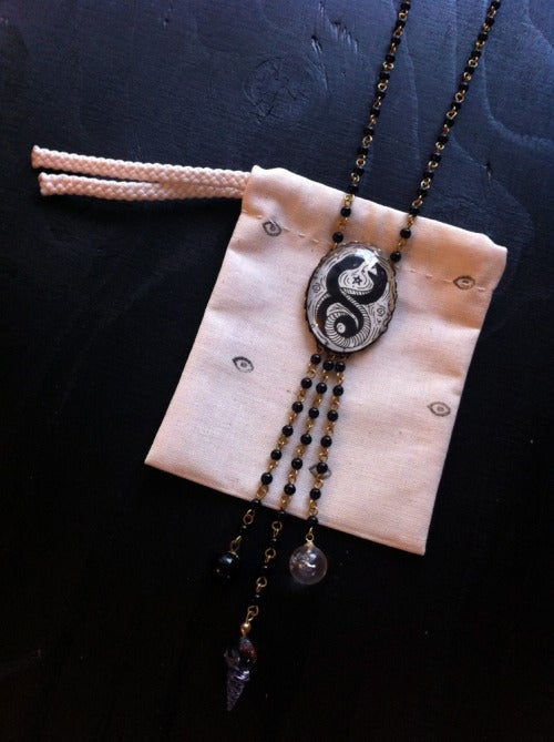 Image of Love Snakes Rosary pendant necklace