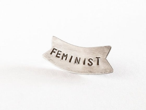 Image of Feminist Banner pin