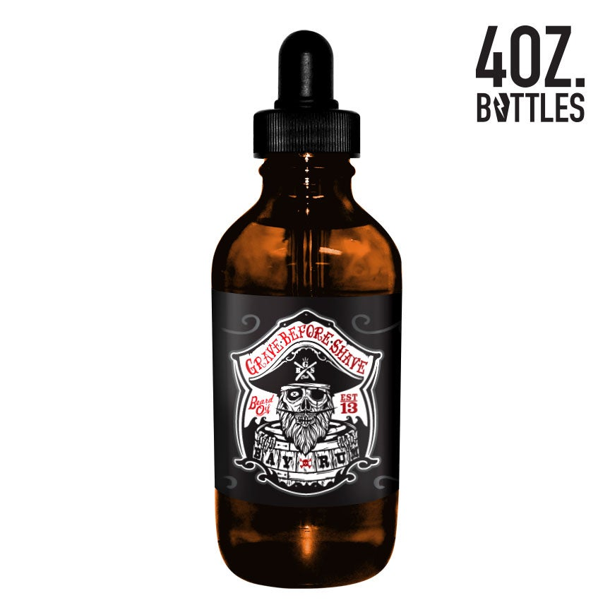 Image of 4oz. BIG BOTTLE OF GRAVE BEFORE SHAVE BEARD OIL