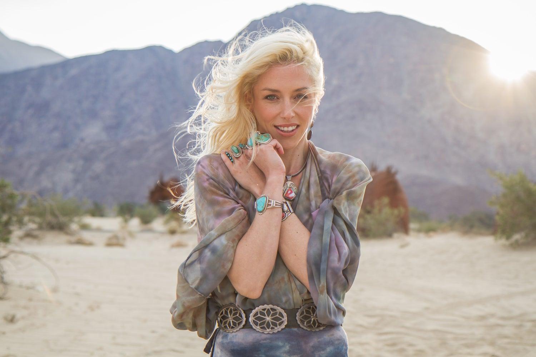 Image of Desert Inspired Silk Kimono/Cape
