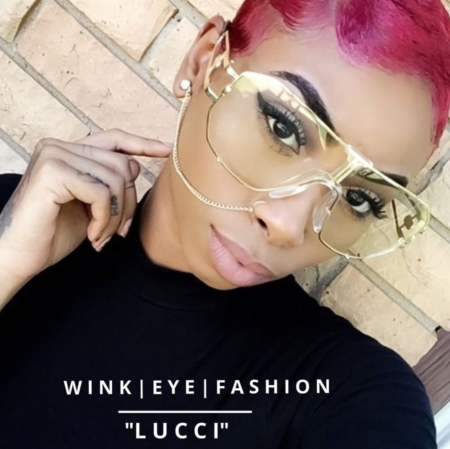 Image of LUCCI VINTAGE CLEAR FRAMES