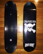 Image of The Dwarves - Skull & Cross Boners Logo Skate Deck (Limited Edition)