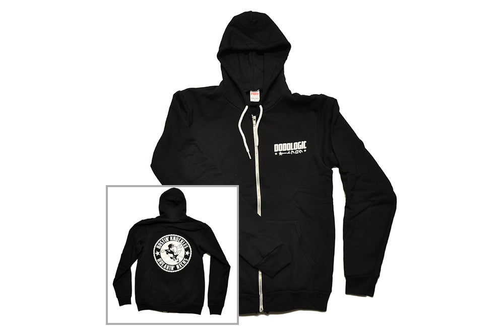 Image of Bustin' Knuckles Breakin' Necks Zip-Up Hoodie