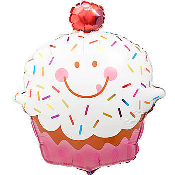 Image of {Sprinkle Cupcake} Mylar Balloon