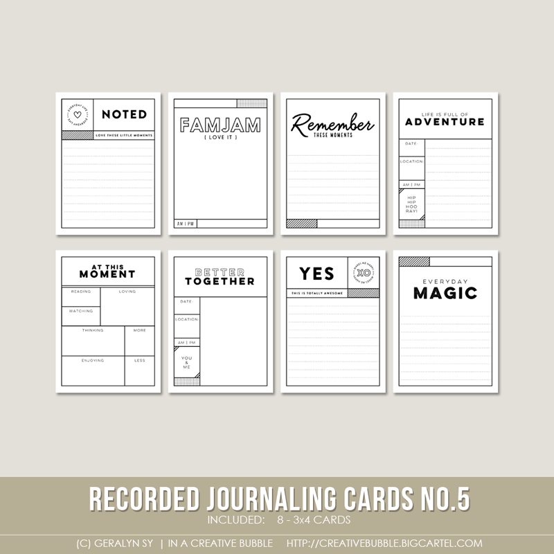 Image of Recorded Journaling Cards no.5 (Digital)